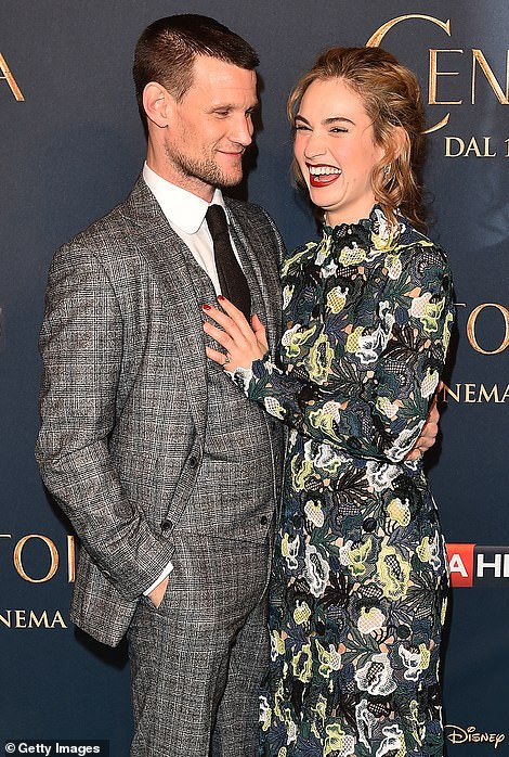Done and dusted: On Thursday, it was announced that Lily, 31, has split from Matt Smith, 37, for good after a failed attempt to rekindle their relationship in lockdown following an on-off five year romance (pictured in 2015)