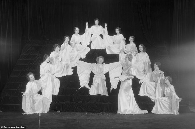 Sister Aimee would bring to life biblical stories with spellbinding sermons and over-the-top stage presentations. She often hired Hollywood set designers, artists, electricians, decorators and carpenters to build stages for her lavish weekly Sunday services and later consulted with Charlie Chaplin on ways to improve her presentations