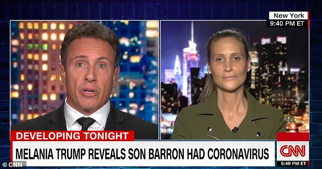 Probed by Chris Cuomo on how Melania could lecture the country about getting on with things amid the pandemic, 'when she can't even get her husband' to follow health experts' advice, Wolkoff said, 'Because she doesn't do it the right way either'