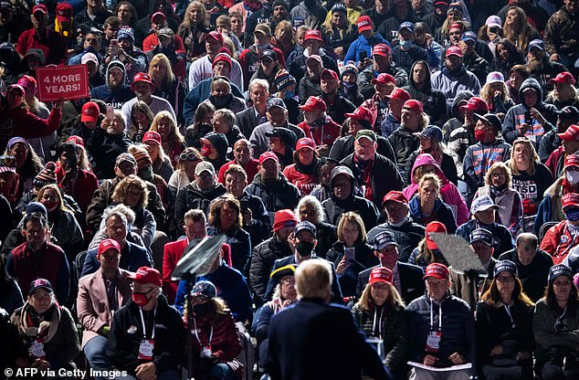 The president appeared Tuesday in Johnstown, Pennsylvania, where he suggested 25,000 to 30,000 people showed up. The president argued that many of his supporters are wearing masks to these large gatherings, held amid the coronavirus pandemic
