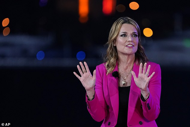 Moderator Savannah Guthrie pushed back on that claim: 'I don't get that, you're the president. You're not like someone's crazy uncle who can just retweet whatever'