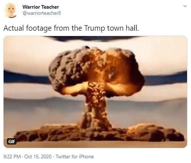 Several people opted for apocalyptic scenes to describe Trump's town hall