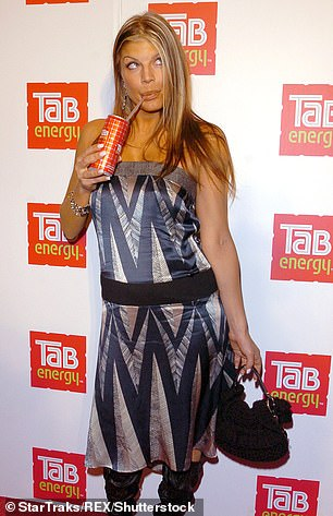 Fergie at the Tab energy drink launch party in 2006
