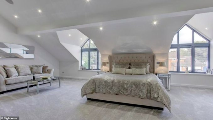 One of the very spacious master bedrooms within The Shires property