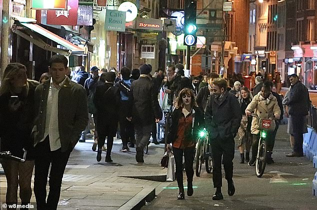 Borough market was packed with people on Saturday night as revellers didn't let increased restrictions stop them enjoying their weekends