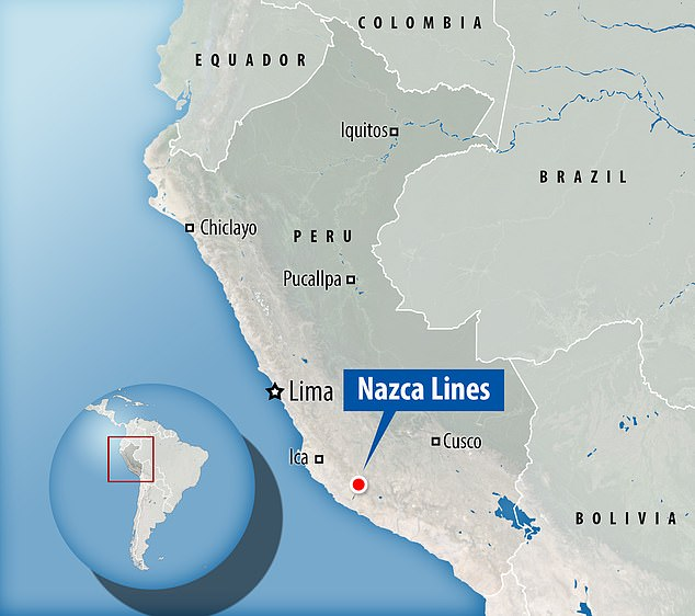 Nazca lines were not completely understood until invention of airplanes because they cannot be fully realized from any point on land and drones have helped understand them further