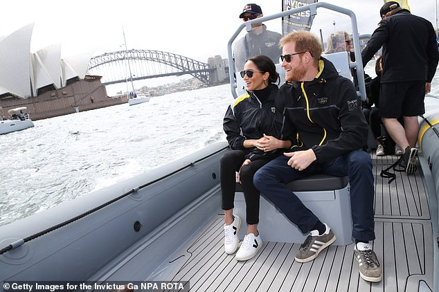 Every step was carefully planned as Meghan and Harry carried out their first major tour of Australia in October 2018, right down to the trainers on the pregnant Duchess's feet