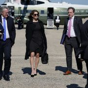 Hope Hicks is back with Donald Trump after COVID diagnosis – and is NOT wearing a mask