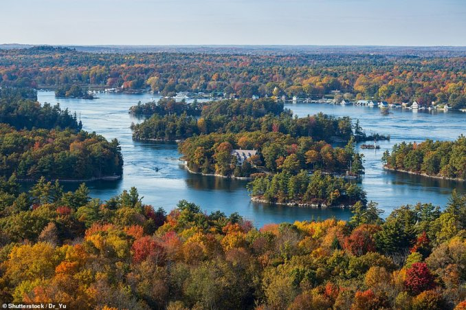 The view of the Thousand Islands from the amazing 1000 Islands Tower, which is located onHill Island