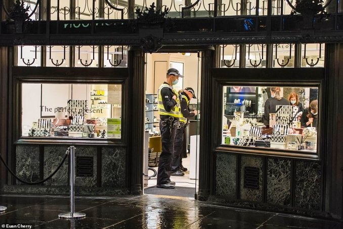 Shops on Glasgow's Buchanan Street went silent as the city moved into Level Four lockdown alongside swathes of Scotland