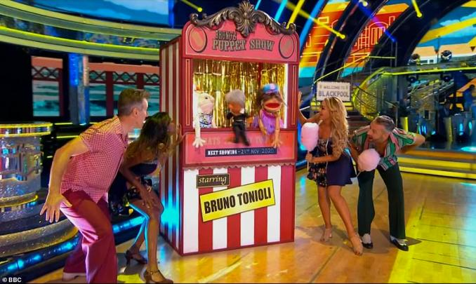 Recreation: While the celeb contestants admitted they were 'gutted not to be able to go', they were sure to still put on a show worthy of the Tower Ballroom