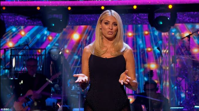 High praise: 'It was almost like we were in the Tower Ballroom!' host Tess Daly commented after the dance