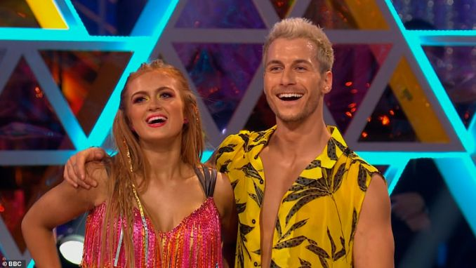 Improvement: She and Gorka Marquez danced the salsa. All three judges pointed out that there was an unstable landing at one point, but Gorka admitted fault for that, with the judges accepting this and awarding them a trio of 9s