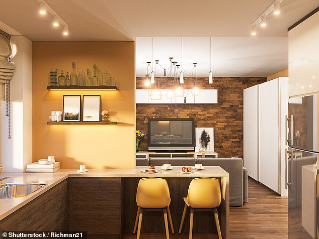 Yellow in the kitchen is good for digestion, and will look fresh thanks to these citric shades. Stock picture