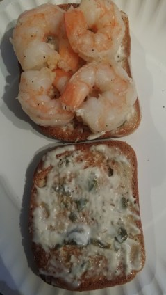 shrimp sandwich and shrimp
