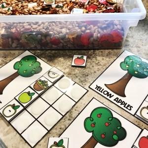 Preschool Skills Seasonal Sensory Bins