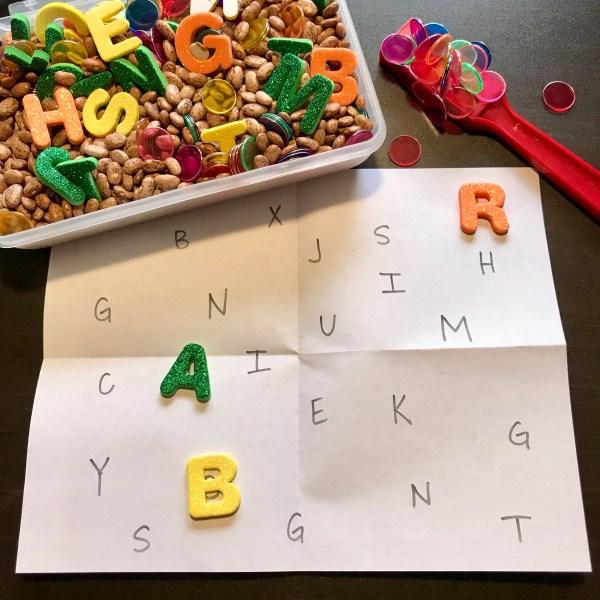 Alphabet Matching Sensory Bin
