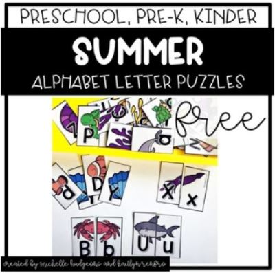 Preschool Activities Cover - 5Summer Freebie