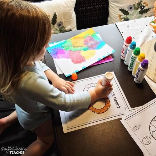 Messy Bin for Preschoolers