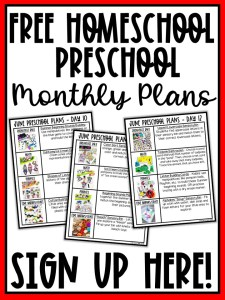 Free Homeschool Preschool Plans