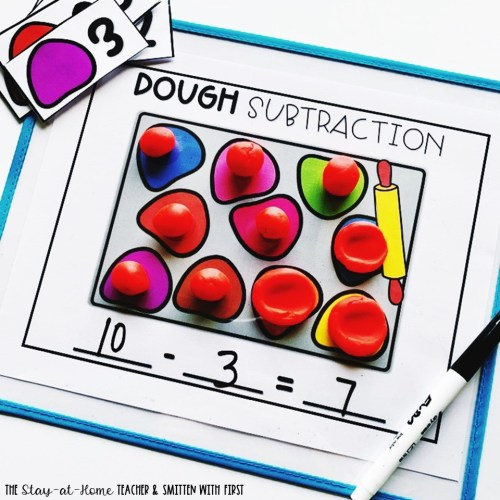 playdoh subtraction center