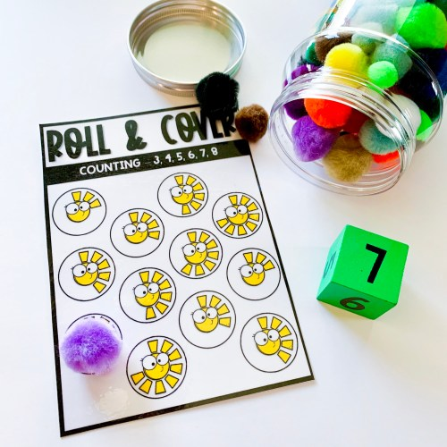Roll and Cover Counting Activity
