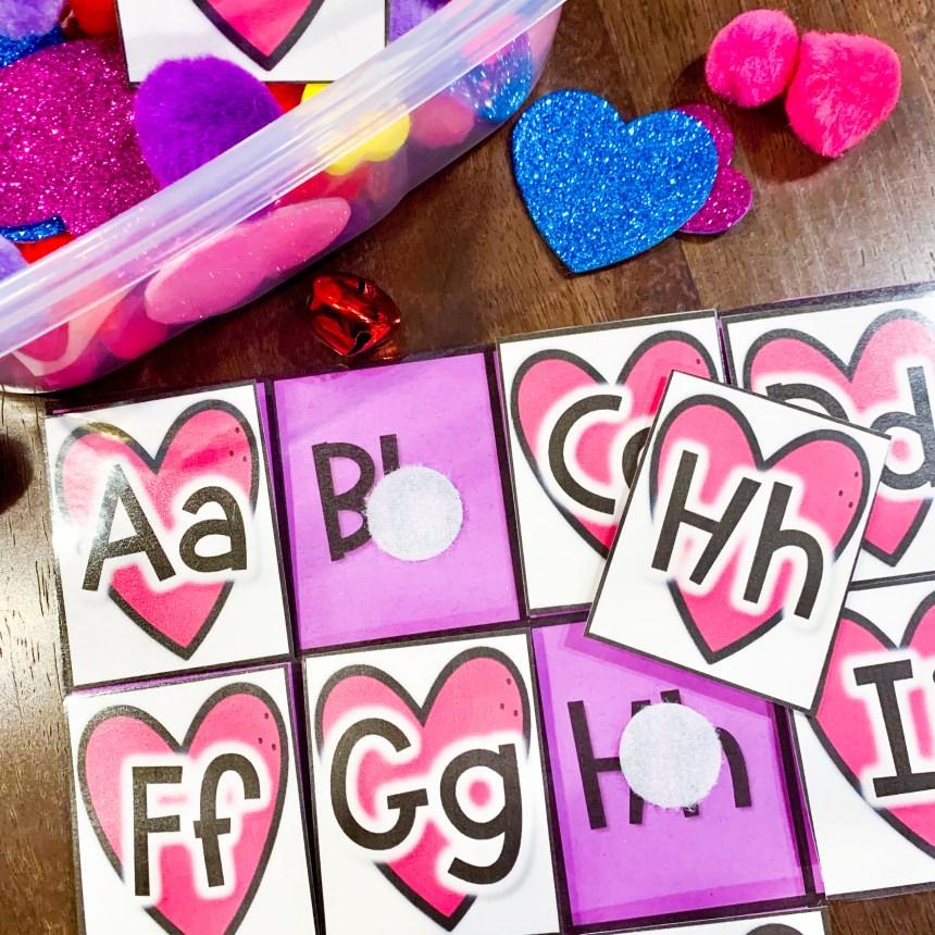 Valentine Alphabet Matching