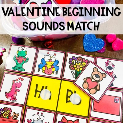 Valentine Beginning Sounds Matching