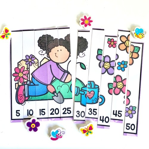 Chantal - Spring Counting Puzzles