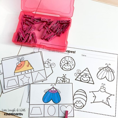 Kimberly - Shapes Clip Cards