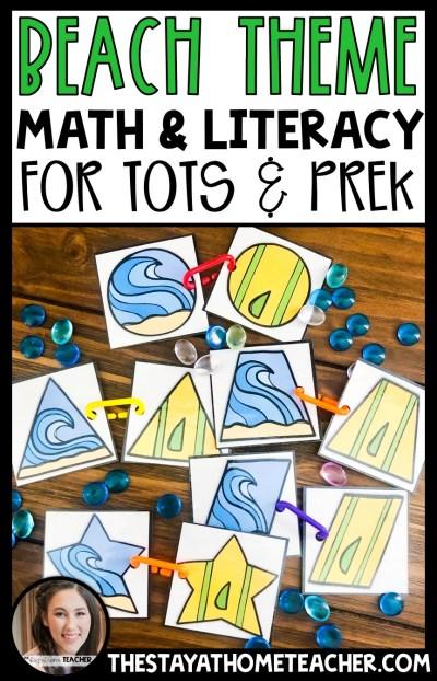 beach math and literacy centers