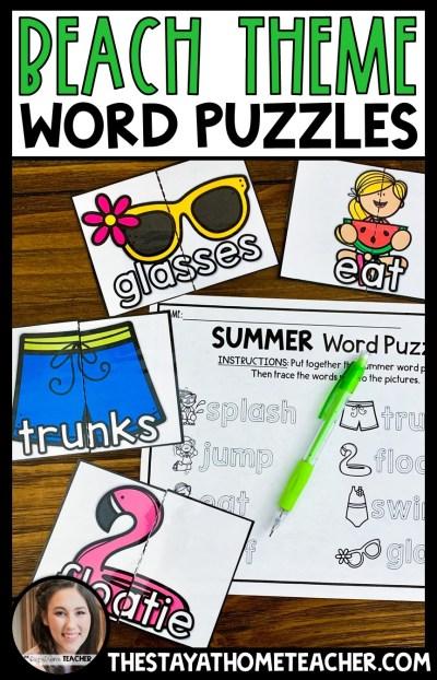 beach word puzzles