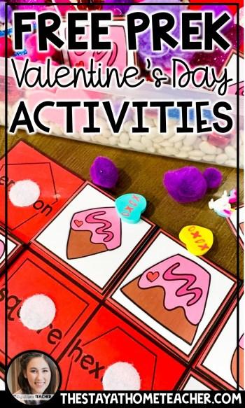 free preschool valentine activities