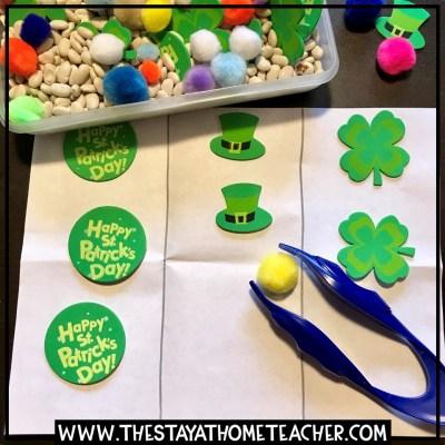 St. Patrick's Day sticker sort