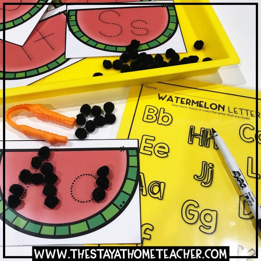watermelon letter building