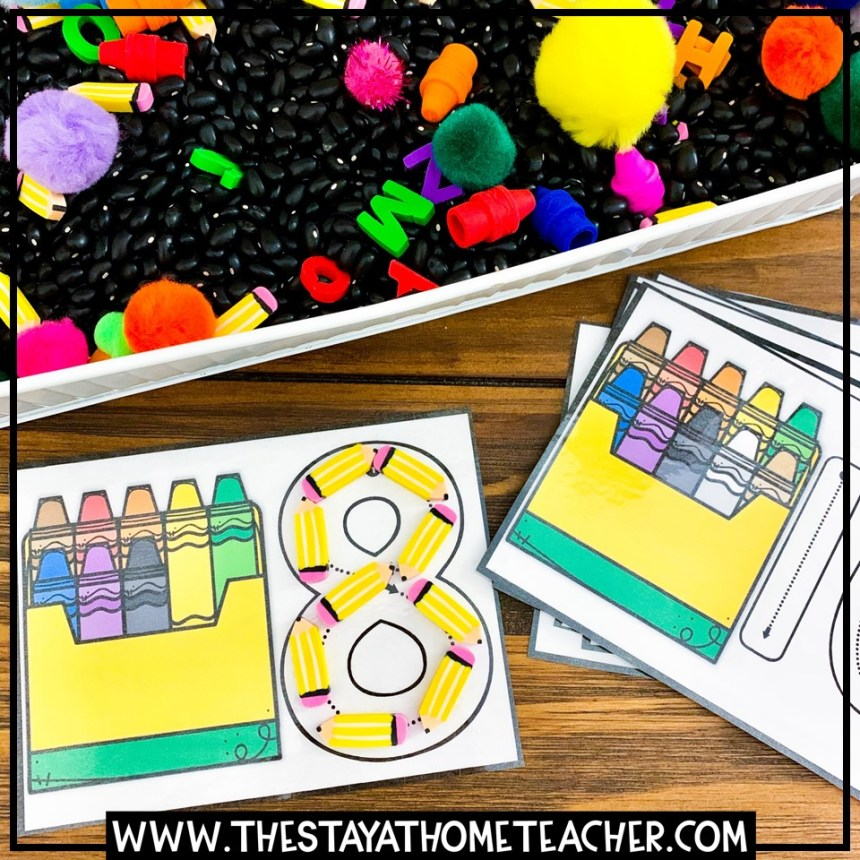 crayon counting and number building