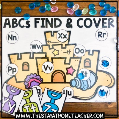 beach alphabet find and cover