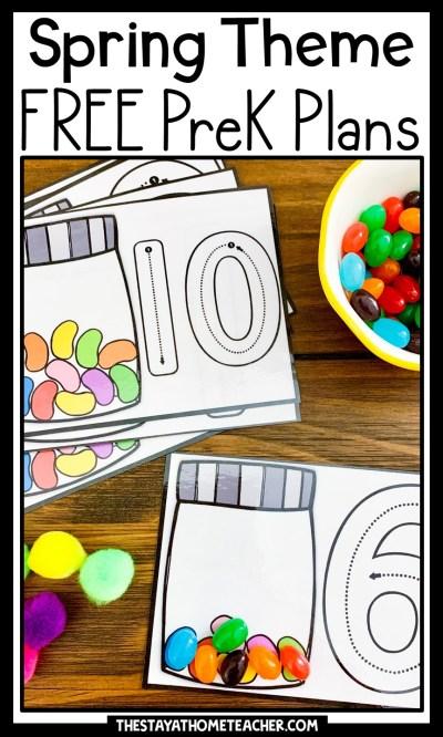 spring preschool plans pin