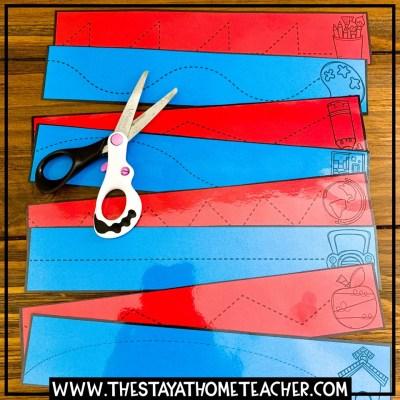 school theme cutting cards