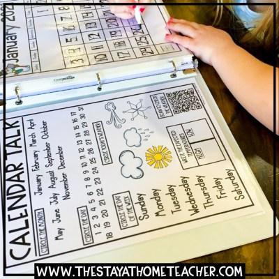 homeschool kindergarten calendar