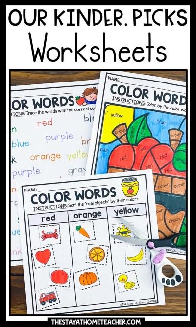 kindergarten math and literacy worksheets pin