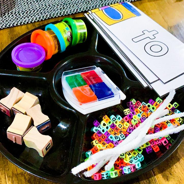 sight word activities tray