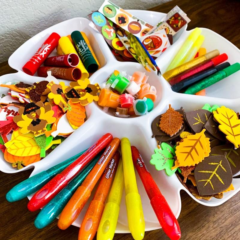 fall arts and crafts tray