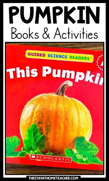 pumpkin books and activities pin