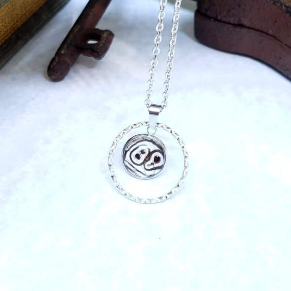 88 Butterfly Large Circle Necklace