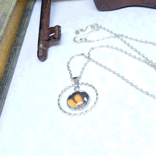 Monarch Butterfly Large Circle Necklace
