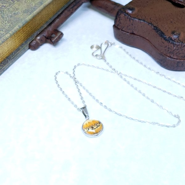 Red Lacewing Butterfly Dainty Necklace