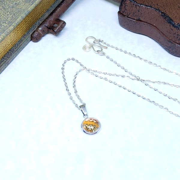 Red Lacewing Butterfly Tiny Necklace