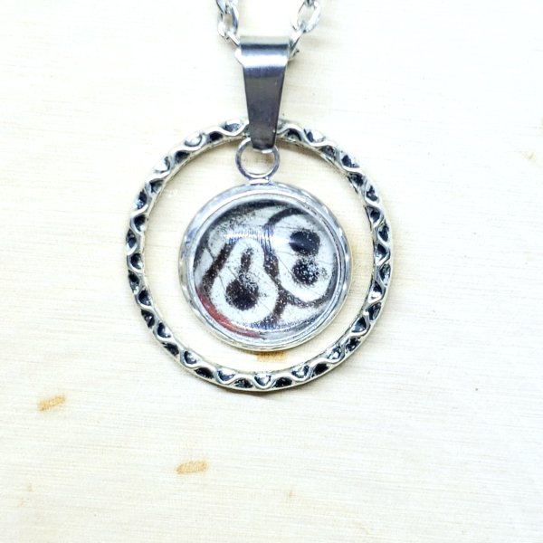 88 Butterfly Small Circle Necklace