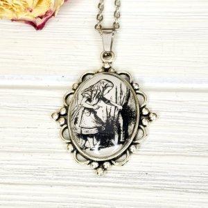 Alice in Wonderland Door Necklace in Silver
